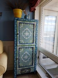 whimsy painted cabinet