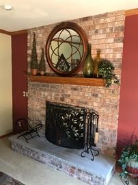 Wall mirror and accessories
