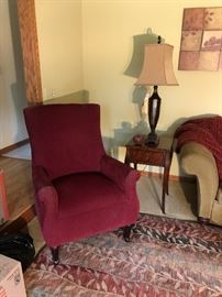 Designer chairs and carpeting