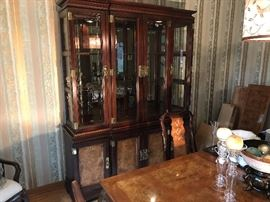 Exquisite black lacquered china cabinet