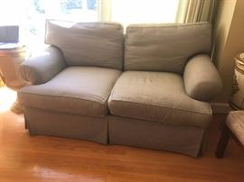 #2	green check loveseat by Hale Brother Furniture 70 long	 $125.00