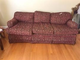 #1	norwalk burgundy sofa 81 long 	 $150.00