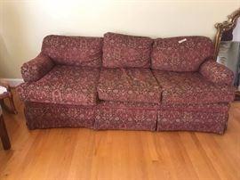 #1norwalk burgundy sofa 81 long  $150.00