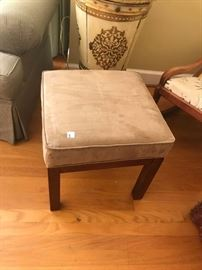 #4	(2)18 inch square tan stool  40.00$ each