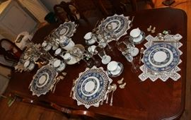 The china on the Queen Anne table.