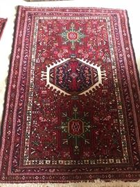 "5'1"" x 3' 6"" vintage middle eastern area rug"