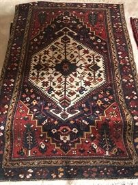 "6""5' x 4""2"" vintage middle eastern area rug"