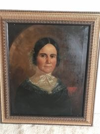 Antique oil on canvas portrait