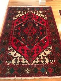 "6'x 4'2"" vintage middle eastern area rug"