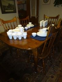 Rockingham Dining set 6 chairs/1 leaf/table cover mats