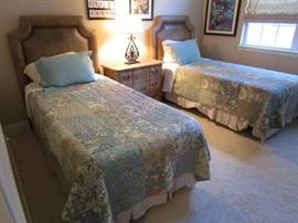 NICE SET TWIN BEDS WITH STORAGE BASES
