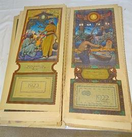 Maxfield Parrish - original vintage calendars