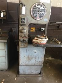 """DoAll"" Vertical Band Saw 6' tall, excepts 15 stock, Model #DBW-12"