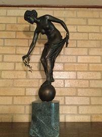Gorgeous bronze art nouveau nude