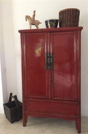 Chinese Wedding Cabinet ~ Antique Rice Bucket