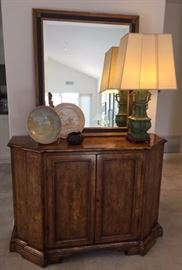 Minton-Spidell Italiante Cabinet ~ Vintage Patinated Bronze Lamp