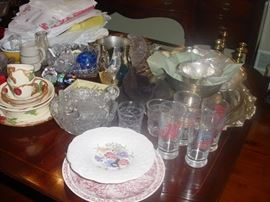 Some of the china, crystal, and more