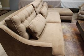 Plush two piece sectional.