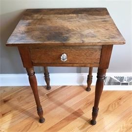 Antique Oak Table with Drawer