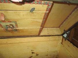 Inside of flattop trun