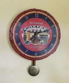 Slate Face Red Package Coffee Clock