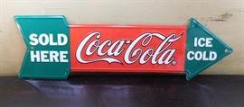 Coke Advertising Metal Sign