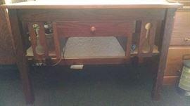 Mission Oak single drawer desk