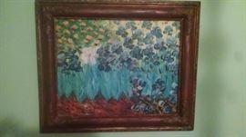 Vintage painting on canvas.