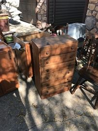 small wood dresser