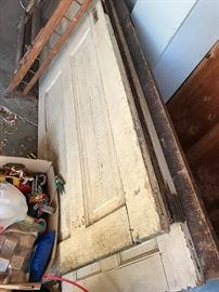 4 antique wooden doors