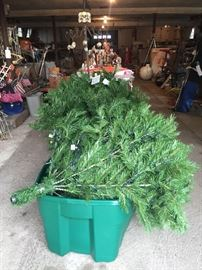 pre-lit Christmas tree- 7ft, very full, includes the storage boxes,