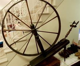 a great 1800's spinning wheel