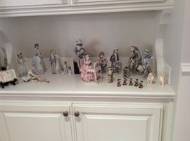 nice collection of Lladro figurines