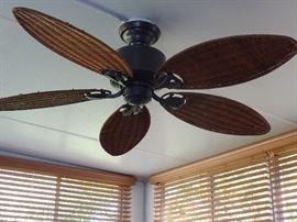 Wicker ceiling  fan