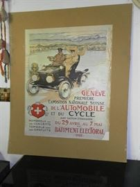 Antique French advertising - National Exposition of Automobiles and Cycles - dated April 29, 1905