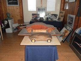 Rare clay model and Foam core model