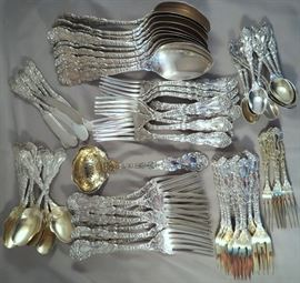 "Amazing 86-piece Set of Gorham ""Imperial Chrysanthemum"" Sterling Silver Flatware Service for 12"