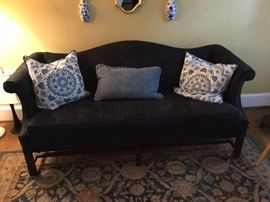 Classic style couch, black fabric