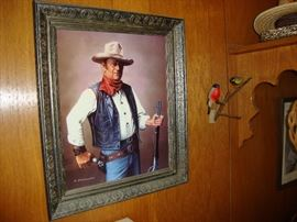 A. Sutherland John Wayne (The Duke), The Cowboy,  framed print