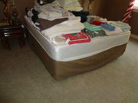 queen bed, nice mattress, no headboard
