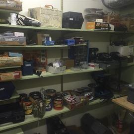 3 vintage phones, tools, cases,