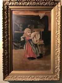 ca. 19thc. Original oil painting as inspired by a lithograph