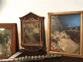 Wonderful antique prints in original frames