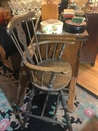 Child's vintage high chair