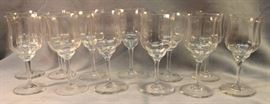 "Baccarat, set of 12, Capri crystal red wine  glasses Size:  5.5"" H"