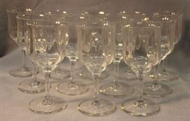 "Baccarat, set of 11, Capri crystal water glasses. Size:  7"" H"