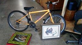 bike and art work