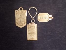COLLECTIBLE: Vintage Key Tags circa 1954. Upper left commemorating opening of San Francisco International Airport 1954