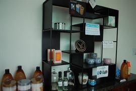 Display cases. Health & Beauty merchandise.
