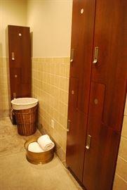 lockers (electronic locking) bathroom accessories.